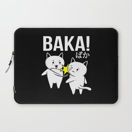 Japanese Anime Baka Neko Funny Kawaii Cat Laptop Sleeve