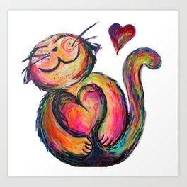 Love Chub Chubbycat Art Print