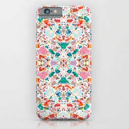 Colorful Crystal Terrazzo Tile iPhone Case