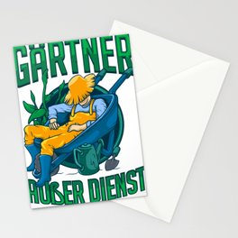 Gardener On Duty Funny Garden Gardening Gift  Stationery Cards
