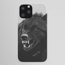Growling Black Wolf iPhone Case