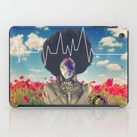 afro iPad Cases featuring Afro Heartbeat by Collage Calamity