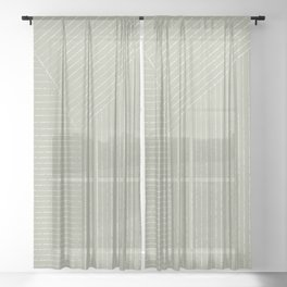 Lines (Linen Sage) Sheer Curtain
