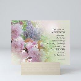 Serenity Prayer Spring Flowers Mini Art Print