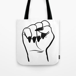 GRL PWR Women's Empowerment Fist Tote Bag