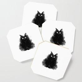 Duster - Black Cat Drawing Coaster