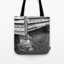 Vintage Black And White Structure Tote Bag