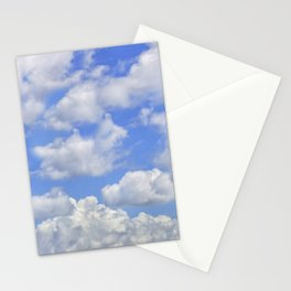 Fluffy clouds blue sky sunny day Stationery Cards