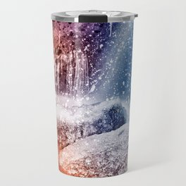 Acrylic Winter Stream Travel Mug