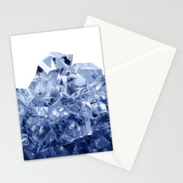 Mountain made of crushed ice, isolated on white background Stationery Cards
