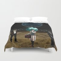 wolves Duvet Covers featuring Wolves  by Design4u Studio