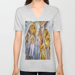 St Stephens Cathedral Vienna Art Unisex V-Neck
