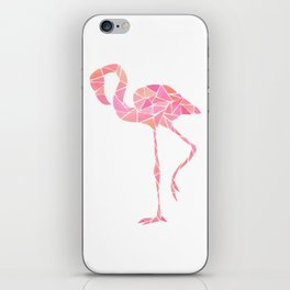 Geometric flamingo iPhone Skin