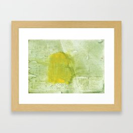 Green abstract aquarelle painting Framed Art Print