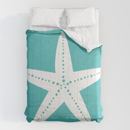 Starfish (White & Teal) Comforters