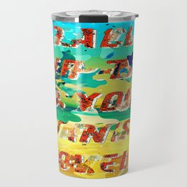 Girl from the Beach – Decollage 1 – A Hell Songbook Edition Travel Mug