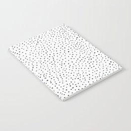 Dotted White & Black Notebook