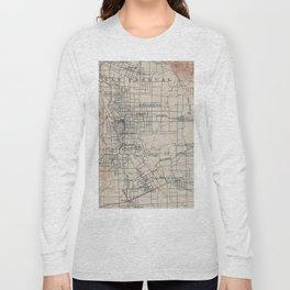 Vintage Map of Pasadena California (1894) Long Sleeve T-shirt