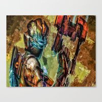 dead space Canvas Prints featuring Dead Space  by Joe Misrasi