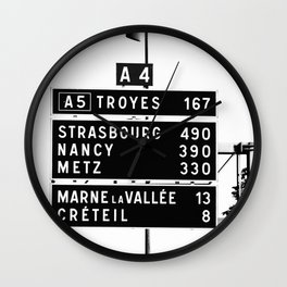 490 km to Strasbourg - The Polaroid Project Wall Clock