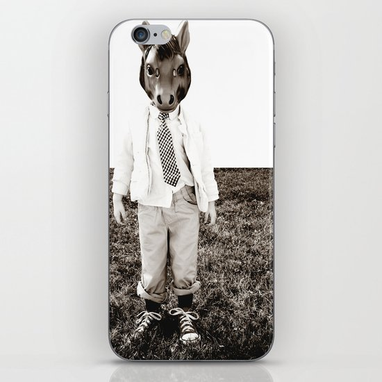 Portrait of a Boy iPhone & iPod Skin