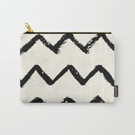 ZigZag Stripes on Ivory Carry-All Pouch