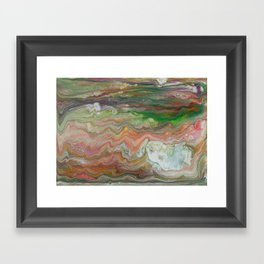 Sedimentary Paint - Colorful Layered Abstract Painting Framed Art Print