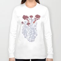 polygon Long Sleeve T-shirts featuring Leaves & Polygon by Felip Ariza Montobbio