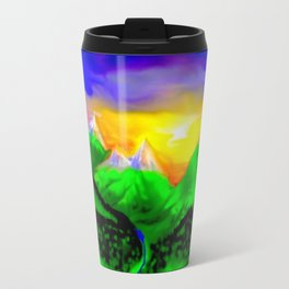When sun rising up in the mountains ... Travel Mug