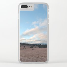 Landscape & Horses III Clear iPhone Case