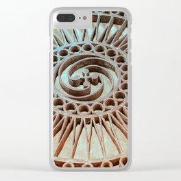 The Iron Lattice Clear iPhone Case