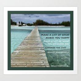 Path to Happiness Art Print