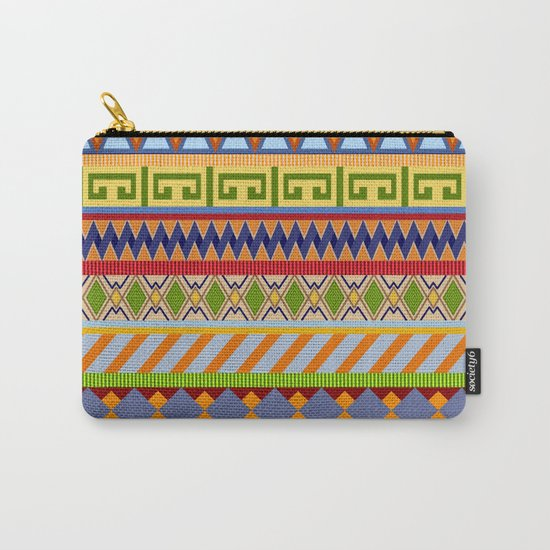 Tribal Aztec Patterns Carry-All Pouch