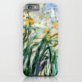 "Claude Monet ""Yellow Irises and Malva"", 1914 - 1917 iPhone Case"