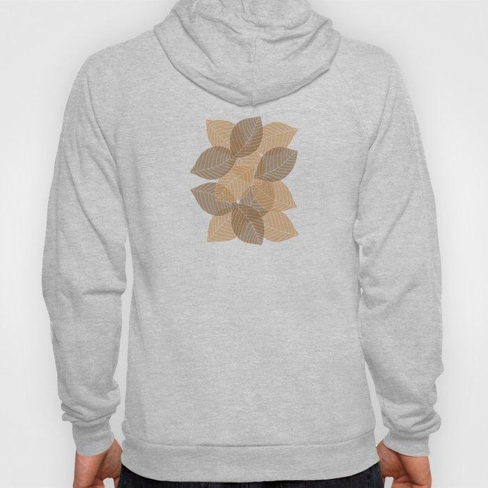 Fall Brown Leaves Hoody