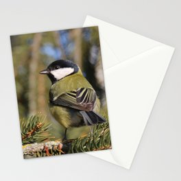 Parus major in its environment Stationery Cards