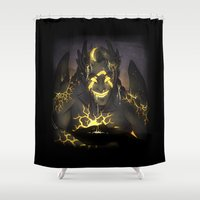 borderlands Shower Curtains featuring Warrior-Jack by Flashes on Match-heads