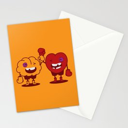 Brain vs. Heart Stationery Cards