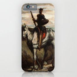 Don Quixote In The Mountains by Honore Daumier iPhone Case
