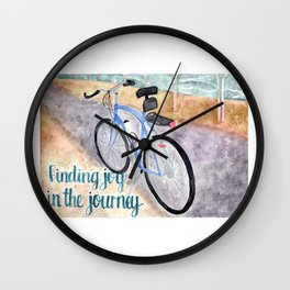 Finding Joy in the Journey Wall Clock