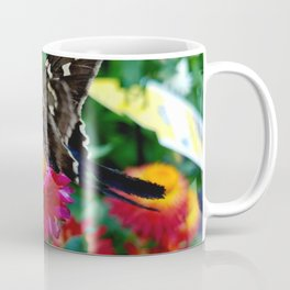 Hummingbird Moth on Flower Coffee Mug