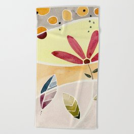 Watercolor Beach Towel