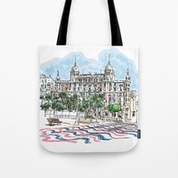 spain Tote Bags featuring Spain  by Pablo Garcia
