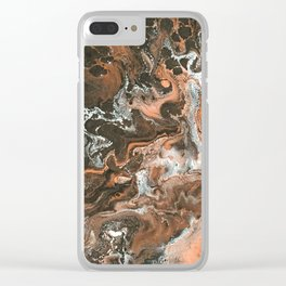 Melted Chocolate Clear iPhone Case