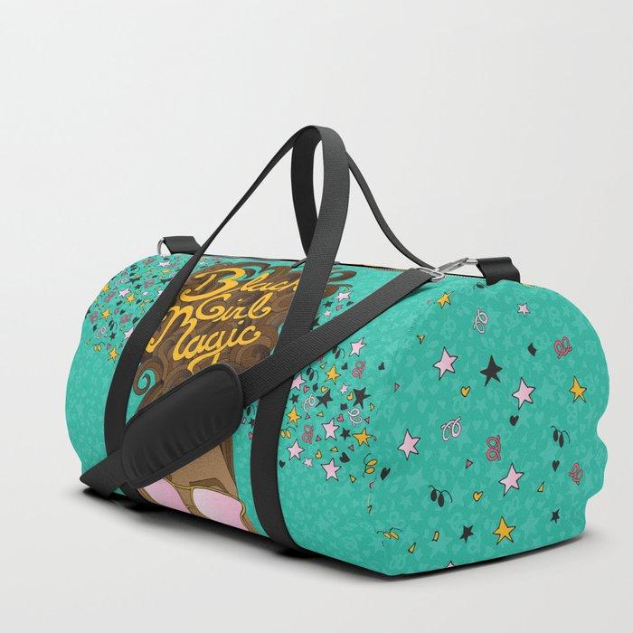 Black Girl Magic Teal Duffle Bag