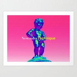 NewOrder Manneken Pis Technique Art Print