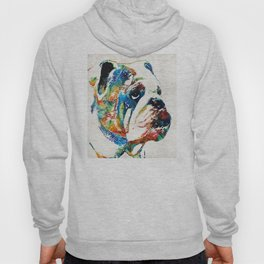 Bulldog Pop Art - How Bout A Kiss - By Sharon Cummings Hoody