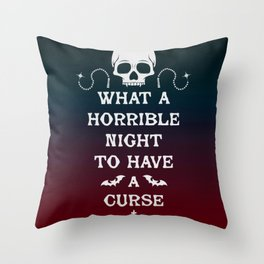 Gamer Geeky Chic Castlevania Inspired What a Horrible Night to Have a Curse Throw Pillow