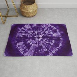 Purple Tie Dye Batik Rug