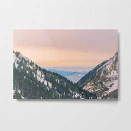 Sunset Through the Valley Metal Print
